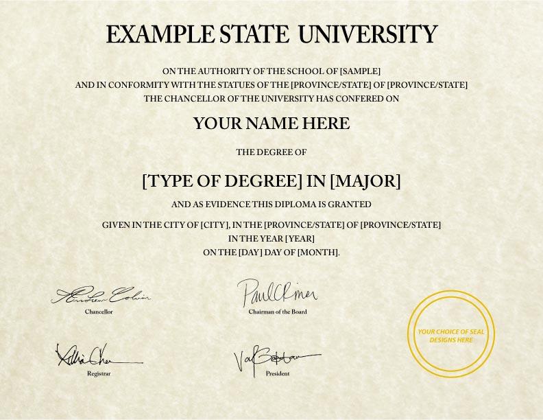 Fake Diploma Template // D-18