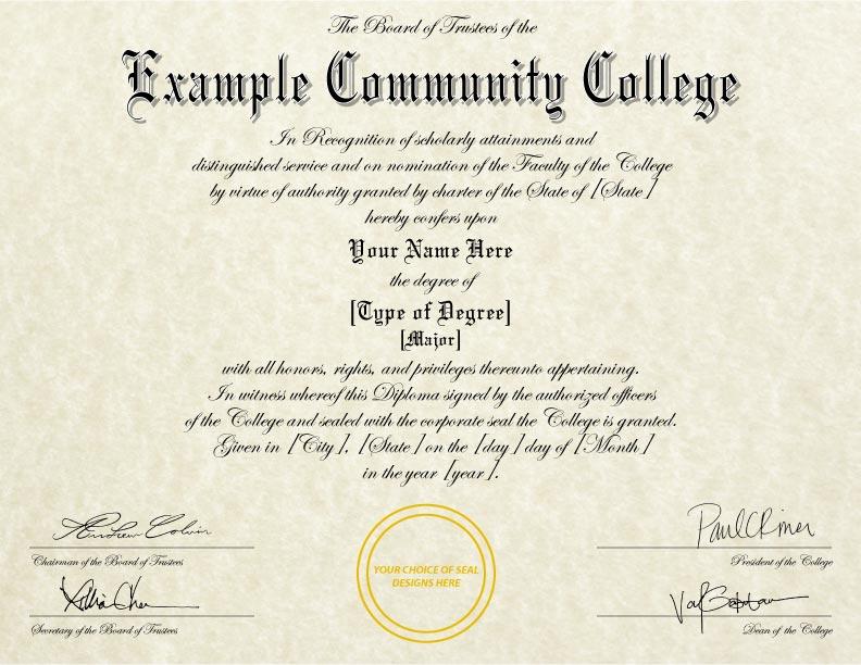 Fake Diploma Template // D-22