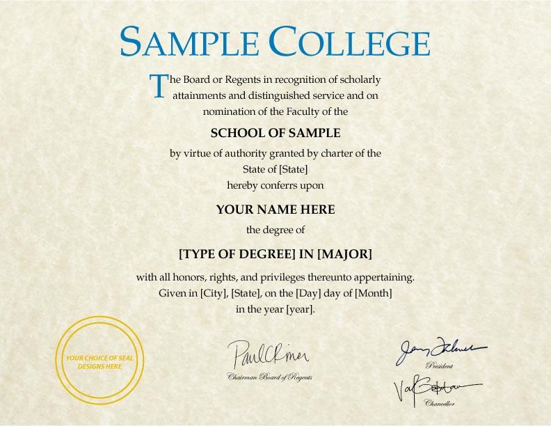 Fake Diploma Template // D-24