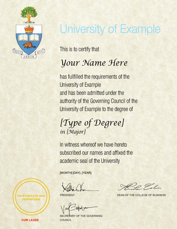 Fake Diploma Template // D-25