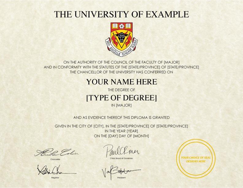 Fake Diploma Template // D-28