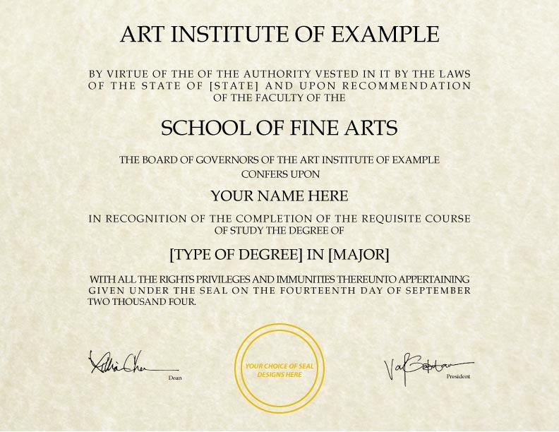 Fake Diploma Template // D-29