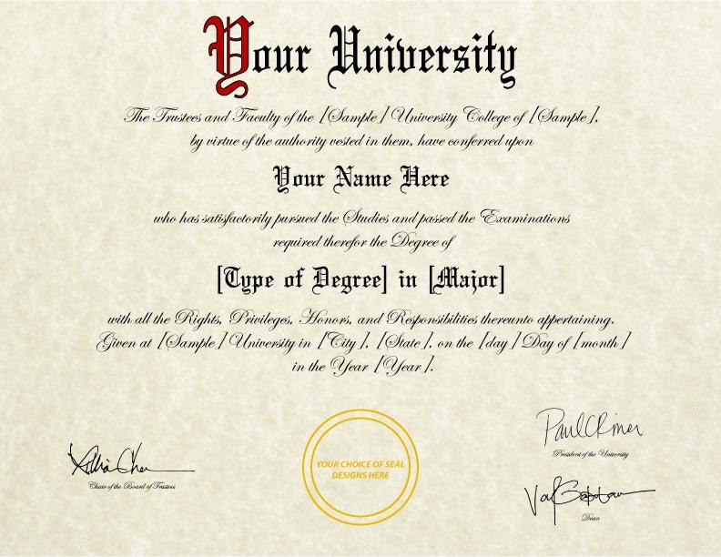 Fake Diploma Template // D-31