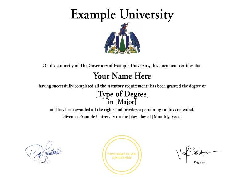 Fake Diploma Template // D-32