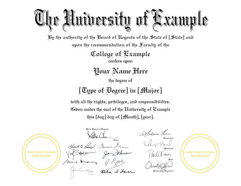 Fake Diploma Template // D-33