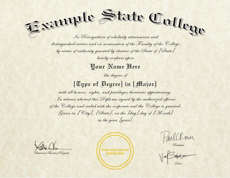 Fake Diploma Template // D-34
