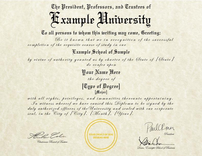 Fake Diploma Template // D-35
