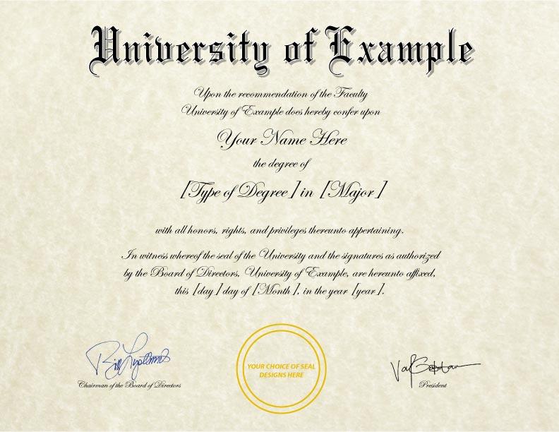 Fake Diploma Template // D-36