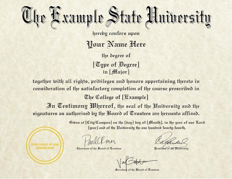 Fake Diploma Template // D-37