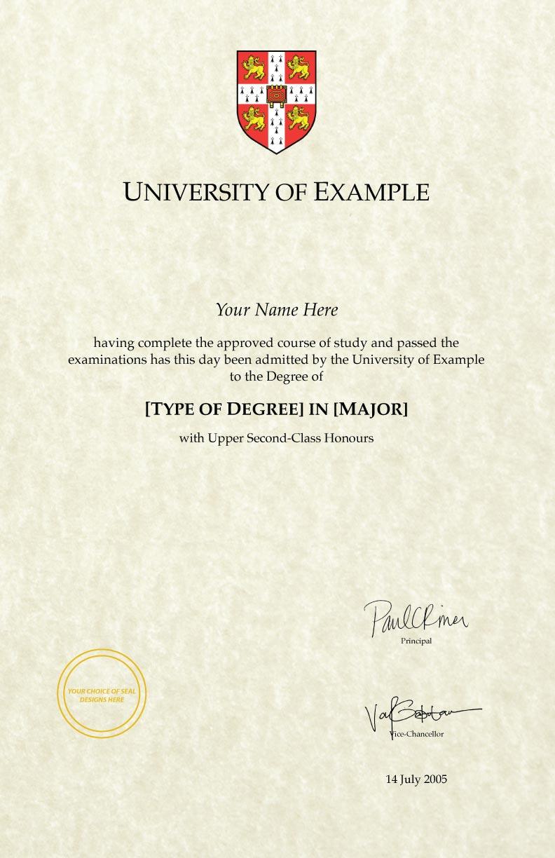 "Fake Diploma Template // UK-D01 (8.5"" x 14"" and 11"" x 17"")"