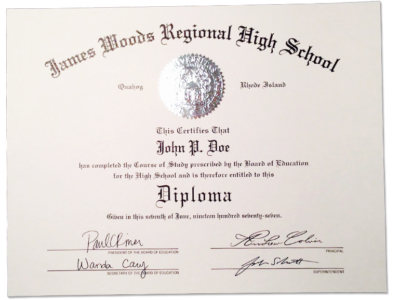 HS-D03 Fake High School Diploma Sample